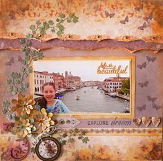 Couture Creations: Explore by Adriana Bolzon | #couturecreationsaus #scrapbooking #decorativedies #travel #venice