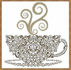 Coffee - Cross Stitch Pattern--would be cool for the kitchen/breakfast nook...