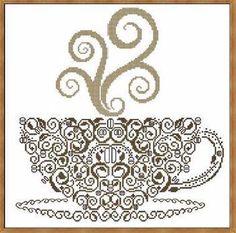 Tribal Tea cup - Cross Stitch Pattern