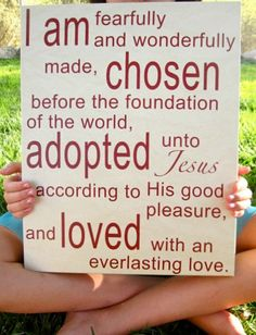 CHOSEN ADOPTED LOVED 12x15 Canvas Tan and Red by kisstheskyshop, $45.00 I Feel Depressed, China Adoption, Life Verses, Adoption Party, Gotcha Day, You'll Never Walk Alone, Everlasting Love, Choose Life, I Can Do It