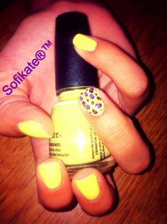 """Banana"" yellow & purple leopard!"