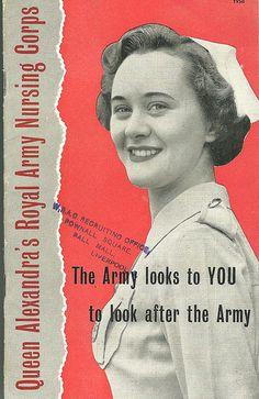 ☤ MD ☞☆☆☆ Queen Alexandras Royal Army Nursing Corps. ◙ Find more Vintage Nurses: https://pinterest.com/mediamed/nurses-vintage/