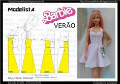 Doll Dress Patterns Barbie Patterns Easy Sewing Patterns Clothing Patterns Barbie Y Ken Barbie House Barbie Dress Diy Barbie Clothes Diy Clothes Sewing Barbie Clothes, Barbie Sewing Patterns, Doll Dress Patterns, Clothing Patterns, Diy Clothes, Habit Barbie, Barbie Mode, Barbie Paper Dolls, Modelista