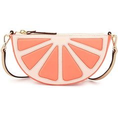kate spade new york grapefruit leather crossbody bag ($290) ❤ liked on Polyvore featuring bags, handbags, shoulder bags, purses, coral sunset, red leather purse, red crossbody, leather shoulder bag, red leather shoulder bag and leather handbags