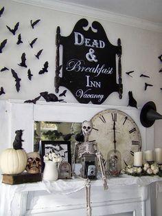 Dead and Breakfast Inn sign - nice Halloween mantel by ARBOR HOUSE LANE