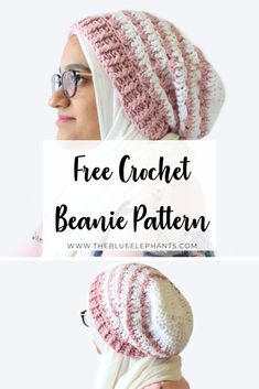 This crochet slouchy beanie pattern is perfect for Spring! This Rosebud Beanie is soft and breezier than most beanies,and great beginner crochet pattern! Crochet Slouchy Beanie Pattern, Beanie Pattern Free, Slouchy Beanie Hats, Crochet Gratis, Knit Crochet, Crochet Patterns For Beginners, Free Crochet Hat Patterns, Beginner Crochet, Crochet Ideas