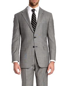 Spotted this Hickey Freeman Lindsey Black & White Plaid Charcoal Two-Button Classic Fit Suit on Rue La La. Shop (quickly!).