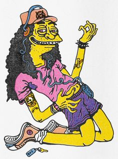 A place where a group of close friends in the UK have come together to draw simpsons characters. Simpsons Drawings, Simpsons Characters, Trippy Painting, Black Light Posters, Found Art, American Dad, Homer Simpson, Drawing Techniques, The Simpsons
