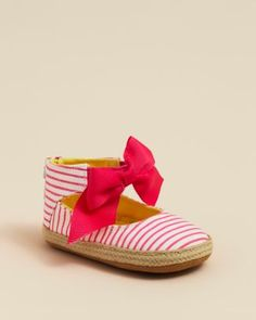 Juicy Couture Infant Girls' Stripe Espradrille Shoes - Sizes 3-12 Months  Bloomingdale's