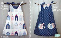 Hace tiempo que tenía ganas de hacer un vestido de niña. Desde que terminé el curso de costura no había hecho nada más que subir algún bajo y ese tipo de labores pequeñas. Muchas veces, cuando quie...