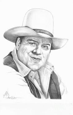 Dan Blocker by Murphy Elliott ~ traditional pencil art ~ Hoss Cartwright of Bonanza tv series (ran from Cool Pencil Drawings, Amazing Drawings, Cartoon Drawings, Drawing Sketches, Sketching, Celebrity Caricatures, Celebrity Drawings, Celebrity Portraits, Tarzan