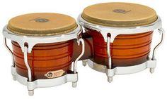 Latin Percussion LP Generation II Wood Bongos Vintage Sunburst LP201AX-2VSB LP Generation II Bongos have a more pronounced shell contour than other bongos, which creates crisp, distinct high tones. Si