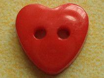 8 KINDERKNÖPFE rot 13 x 13mm (3075-4)kleine Knöpfe