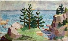 Coves & Islands by Carol Anne Grotian.  Photo by Zippy Quilts.  2014 Vermont Quilt Festival.