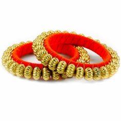 Kamal Bangle Set http://blossomboxjewelry.com/db14.html #indianjewelry #bangles #churiya #armcandy