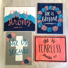 New painting canvas diy quotes color schemes Ideas Bible Verse Painting, Bible Verse Canvas, Canvas Painting Quotes, Simple Canvas Paintings, Easy Canvas Painting, Cute Paintings, Canvas Quotes, Diy Painting, Dorm Paintings