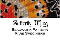 Butterfly Wing Close-up Peyote Stitch Beadwork Pattern - Cuff Bracelet - Bookmark - PDF file