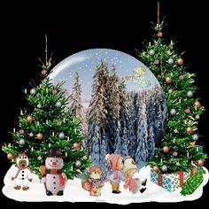 Christmas Gif cute tree animated gif christmas scene snowman