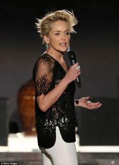 Dare to bare: Reiterating her fashion credentials, the 57-year-old star looked simply stun...