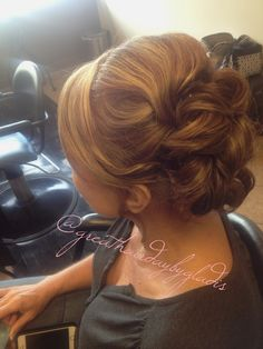Mother of the bride up do @greathairdaybygladis