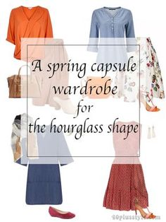 A spring capsule wardrobe for the hourglass body and what shoes to wear with different pant styles