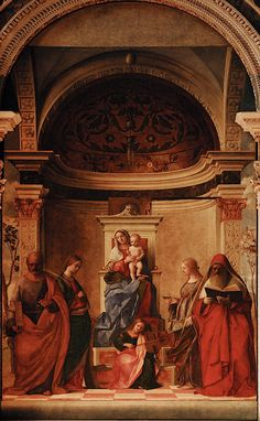 Giovanni Bellini San Zaccaria Altarpiece, 1505; oil on canvas, transferred from panel; San Zaccaria, Venice