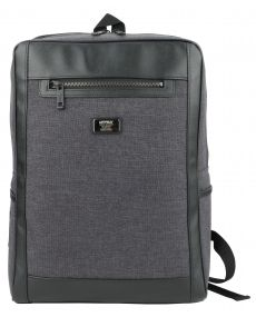 Black Canvas Square Laptop Backpacks