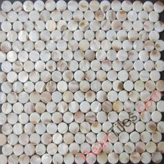 Brown Penny Round Mother Of Pearl Mosaic Tiles - Freshwater Shell Tiles - Shell Tiles