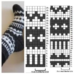 No pattern.  Could use the chart with a basic sock pattern.