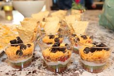 Love these individual taco dips!