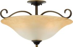 Three Light Semi Flush Mount