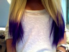 Dip Dye<3 purple ends