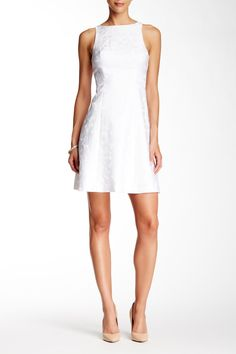 Sleeveless Back Cutout Lace Flare Dress by Adrianna Papell on @nordstrom_rack ($49.97)