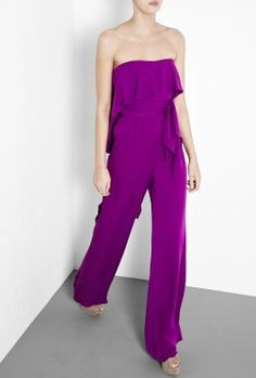 Violet Strapless Silk Jumpsuit by Halston Heritage - more fab glamour