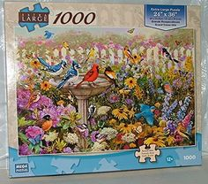 Amazon.com: Extra Large 1000 Piece Garden Bird Bath. By Mega: Toys & Games