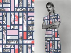 Peculiar Perspectives - Texture Tiles fashion print © Eleanor V R Smith