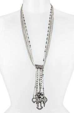 Betsey Johnson 'Black Label' Charm Y-Necklace available at Nordstrom