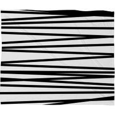 Khristian A Howell Crew Stripe BW Fleece Throw Blanket – DENY Designs