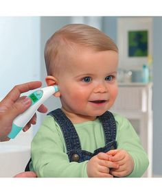 This thermometer is the perfect way to monitor a sweetie's health. A glowing alarm indicates if a darling has a fever, while the memory function recalls previous readings to track progress. Tips for both infant and toddler make this important device incredibly versatile.