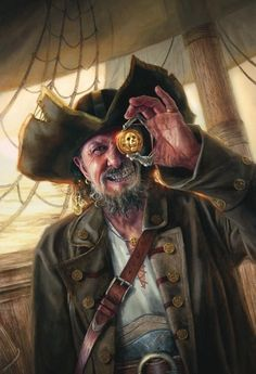 """""""Dread Curse Captain"""" by Lindsey Look. Oil on board. Pirate!"""