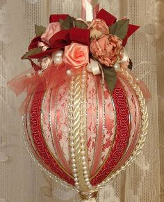 Handmade VICTORIAN CHRISTMAS Ornament / by VictorianKeepsakes, $14.95