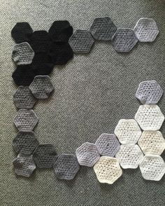 Update on hexagon  blanket #4 it's coming along well  Happy Friday everyone #crochet #crocheted #crocheting #crochetaddict #crochetblanket #hexiblanket #instagram #handmade #etsyseller by crochet_by_sarah