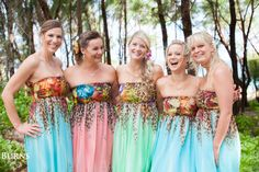 So in love with these bridesmaid dresses. #hawaiiwedding