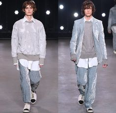 Topman Design 2016-2017 Fall Autumn Winter Mens Runway Catwalk Looks - London Collections Men British Fashion United Kingdom - Hogwarts Frayed Raw Hem Destroyed Denim Jeans Streetwear Skater Cargo Pockets Wrap Velvet Oversized Outerwear Coat Shearling Shirt Robe Knit Cap Beanie Sleepwear Pajamas Loungewear Turtleneck Knit Sweater Silk Satin Jacket Zigzag Furry Flowers Floral Suit Blazer Wool Bomber Jacket