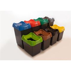 30 Litre Recycling Bin with Colour Coded Lids