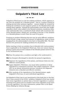 Golpalott's Third Law