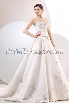 1st-dress.com Offers High Quality Chic Embroidery Organza A-line Ball Gown Wedding Dress,Priced At Only US$215.00 (Free Shipping)