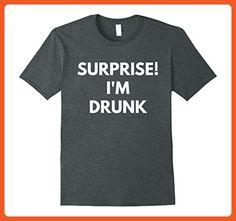 Mens Surprise I'm Drunk t-shirt - Fourth of July Tees Medium Dark Heather - Holiday and seasonal shirts (*Partner-Link)