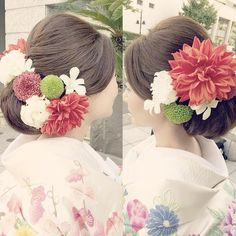 和装に合わせたい髪型はこれ!ほっこり可愛いやまとなでしこ風ヘアアレンジカタログ♡ Graduation Hairstyles, Bride Hairstyles, Geisha, Crotchet Braids, Wedding Kimono, Japanese Wedding, Hairdo Wedding, Hair Arrange, Hair Setting