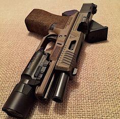 Pistol, light, guns, weapons, self defense, protection, 2nd amendment, America, firearms, munitions #guns #weapons